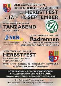 Herbstfest 2021 - Flyer